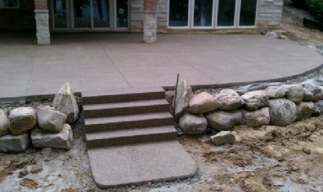 Patio Elevation With Landscaping Rocks